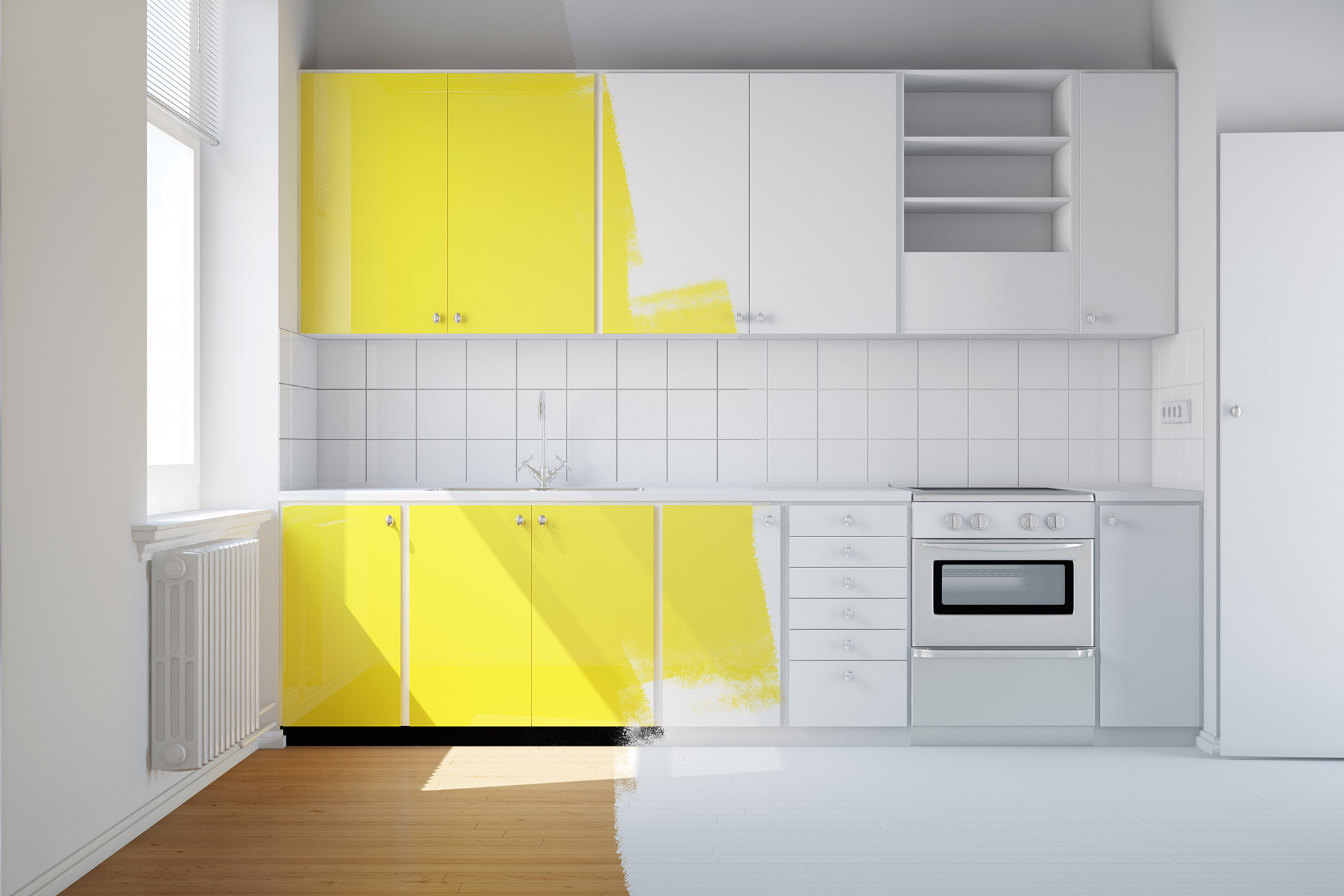 Keuken Kasten Melamine : Keukenkasten schilderen tips polar paintshop gent
