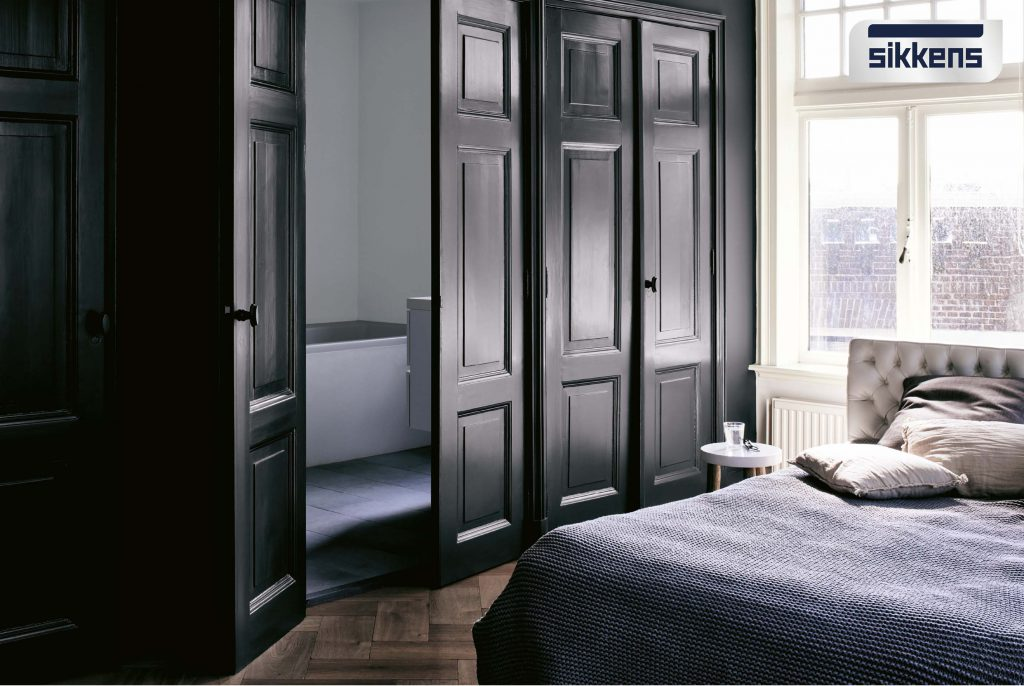 Hoogglans verf slaapkamer